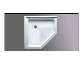 Americh A 3636 NEO Angle Acrylic Shower Base with integral tile flange