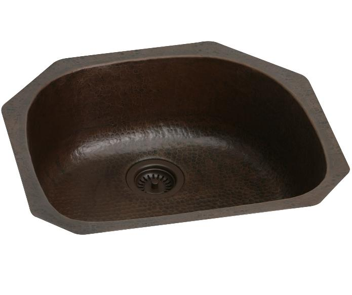 Elkay ECU2118ACH and ECU211810ACH Gourmet Antique Hammered Copper Undermount Sink
