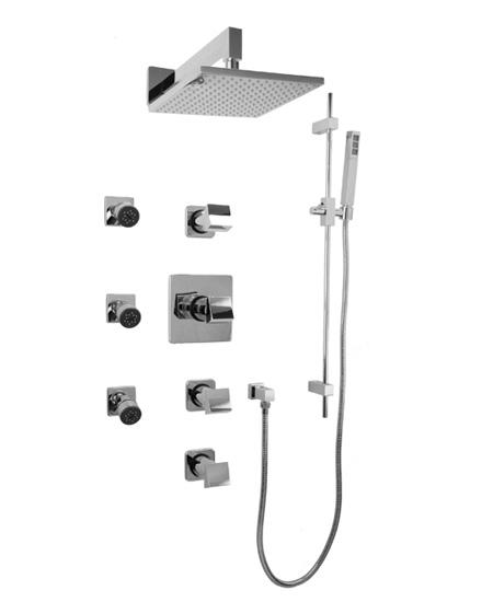 Graff Fontaine GC1.0-C10S Square Thermostatic Set with Handshower & Body Sprays