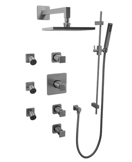 Graff Manhattan GC1.0-C8S Square Thermostatic Set with Handshower & Body Sprays