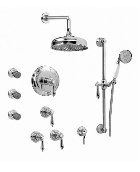 Graff CANTERBURY CB1.0-LM34S  Concealed Thermostatic Jetted Shower System