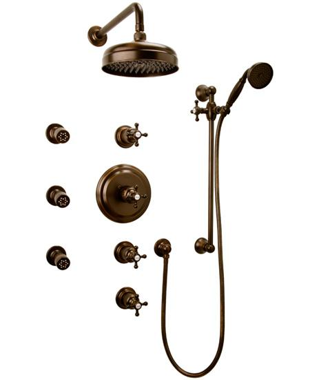 Graff Nantucket CA1.0-C2S Concealed Thermostatic Jetted Shower System
