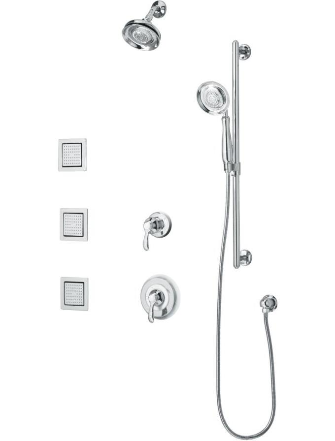 Kohler K-10856-4 Fairfax Luxury performance showering package with body sprays