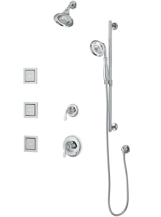 Kohler K-10857-4 Forté Luxury performance showering package with bodysprays