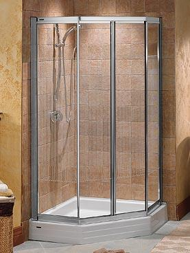 Modren Tiled Corner Shower Stalls Bathroom Exquisite For Bathrooms