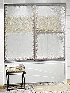 Maax Decor-Plus Sliding 2-Panel Framed Glass Tub Door