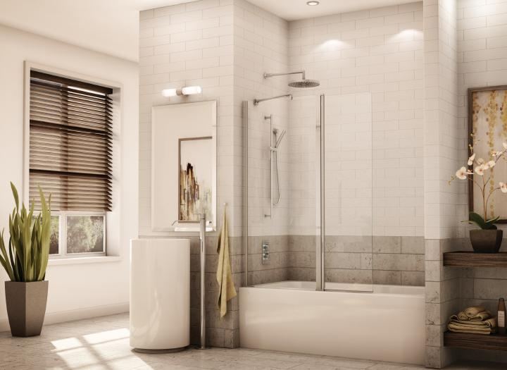 Fleurco Banyo Collection Sienna ESH24 Semiframeless Tub Shield Door