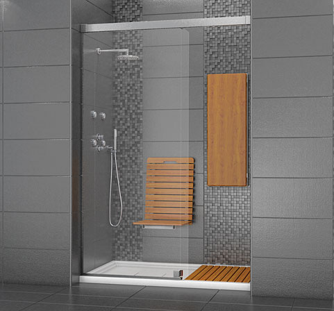 MAAX Exposé 6034 A   101337 Minimalist Design Alcove Walk In Shower  Enclosure