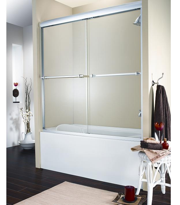 Fleurco Banyo Verona Frameless 2-Panel Sliding Bath Tub Door : bath doors - pezcame.com