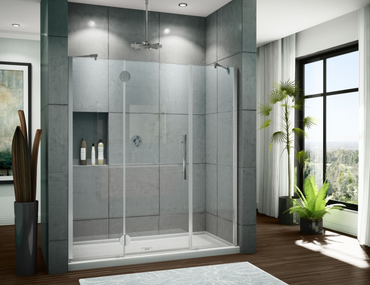 Fleurco Platinum IN-LINE Frameless Pane / Door / Panel Shower Doors