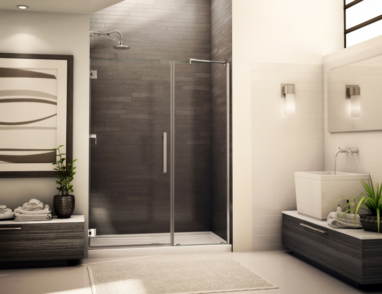 Fleurco Platinum KARA Frameless Shower Door with Panel