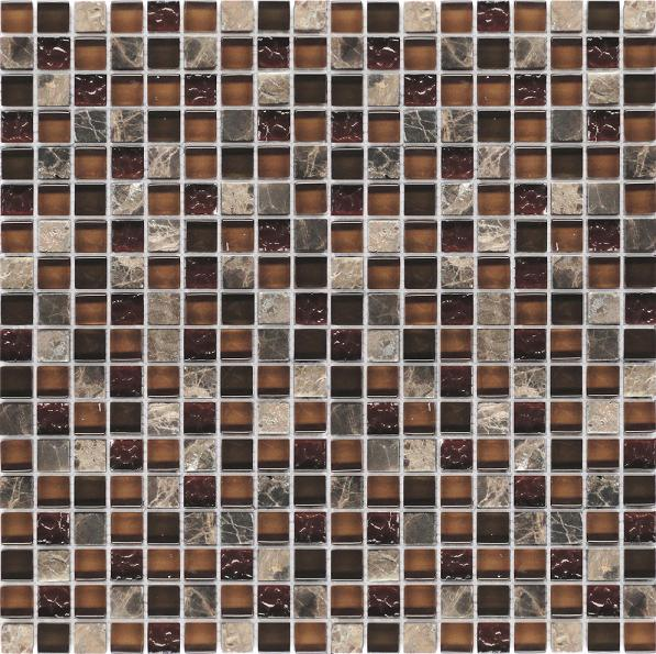 LADA GS59 Glass & Stone Mixed Series Mosaic Tile