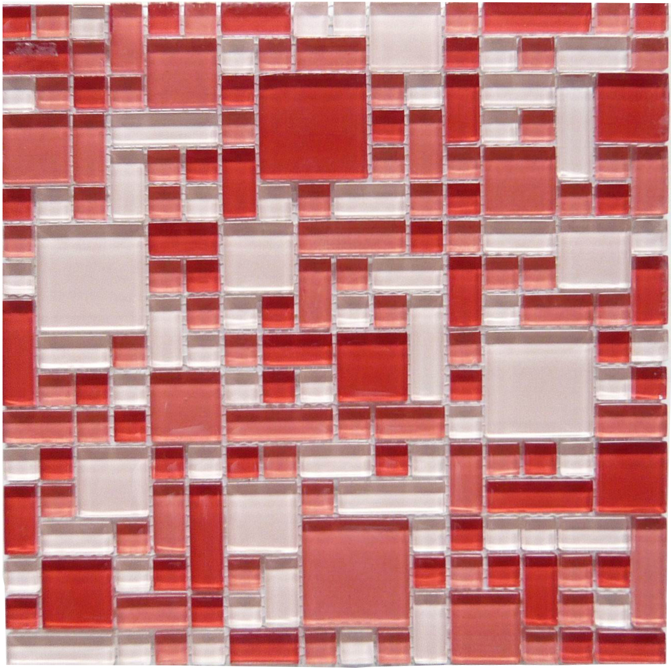 LADA GP06 Mixed Blend Multi Size Puzzle Series Glass Mosaic Tile