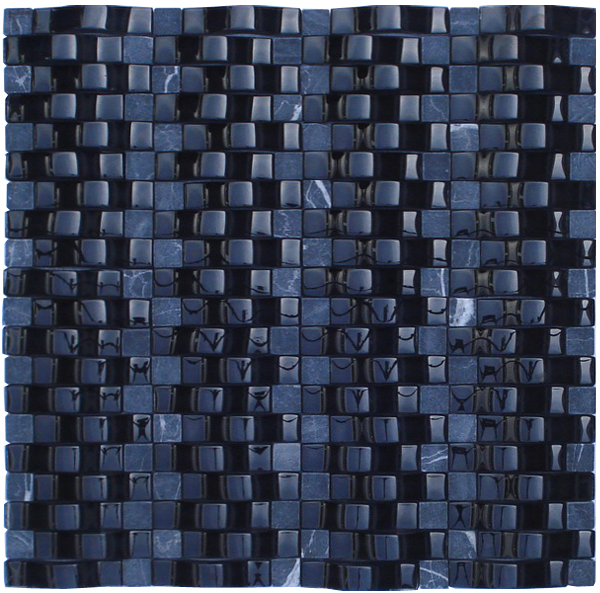 LADA RP05 Glass & Stone Blend Onda Series Mosaic Tile