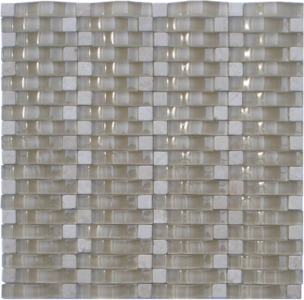 LADA RP11 Glass & Stone Blend Onda Series Mosaic Tile