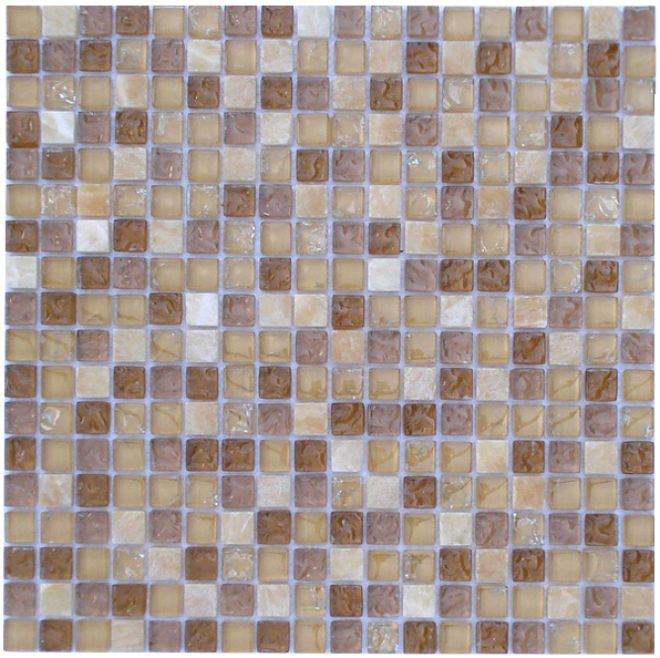 LADA GS61 Crackle Glass & Stone Mixed Series Mosaic Tile