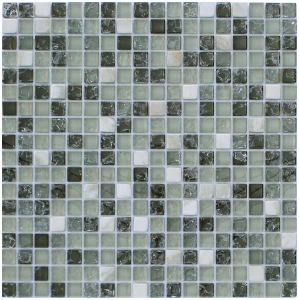 LADA GS62 Crackle Glass & Stone Mixed Series Mosaic Tile