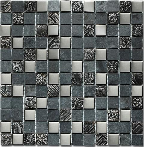 Mirage Op19 Once Series Gray Mountain Mosaic Tile