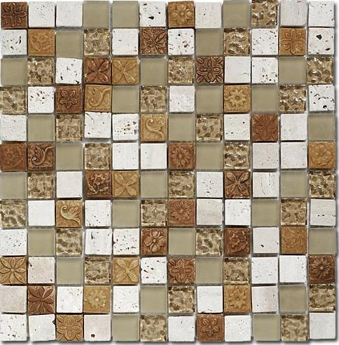 Mirage OP20 Opulence Series Golden Leaf Mosaic Tile  Universal Ceramic Tiles  New York Brooklyn Ceramic. New Tiles Design