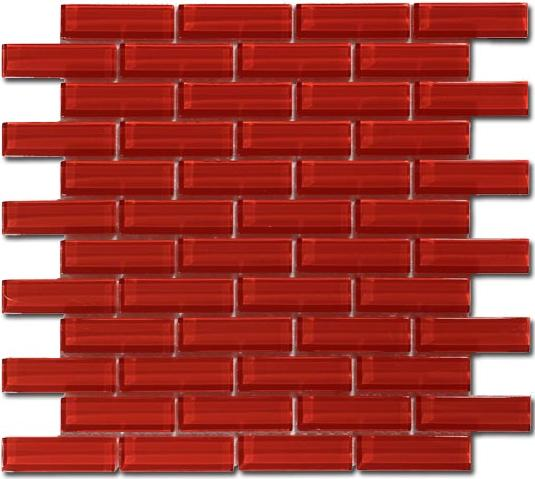 Mirage C12-2 Crystile Series Ruby Red Mosaic Tile