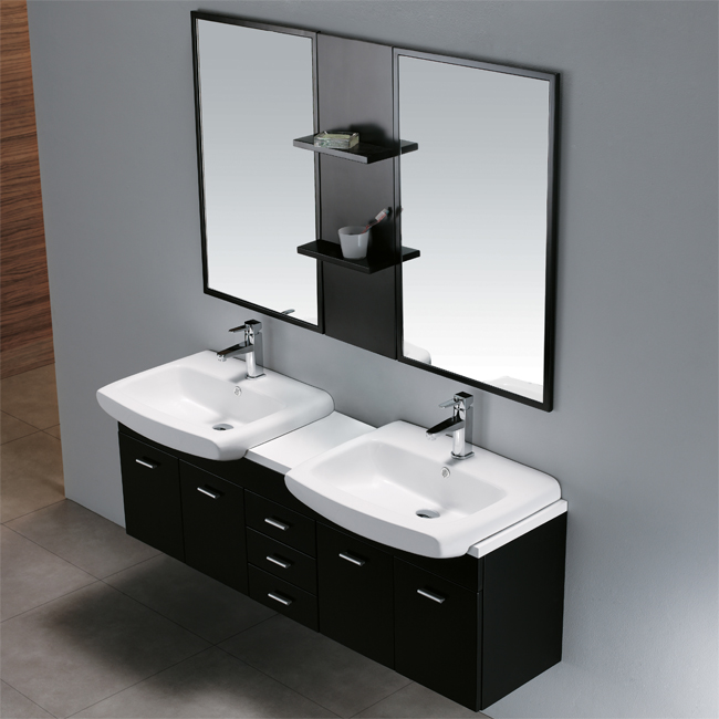 Vigo VG09001104K Solid Wood Double Sink Bathroom Vanity Set 60