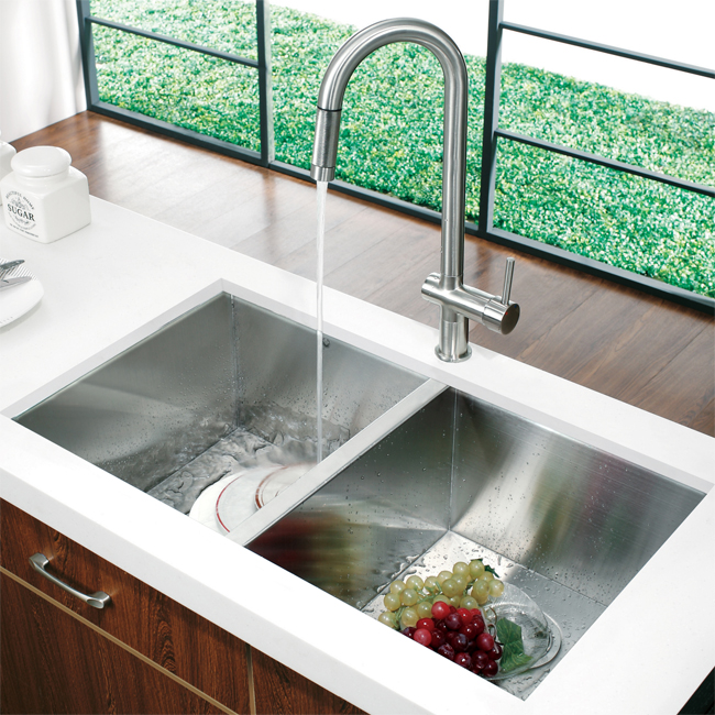 Vigo VG02008ST Kitchen Pull Down Stainless Steel Faucet
