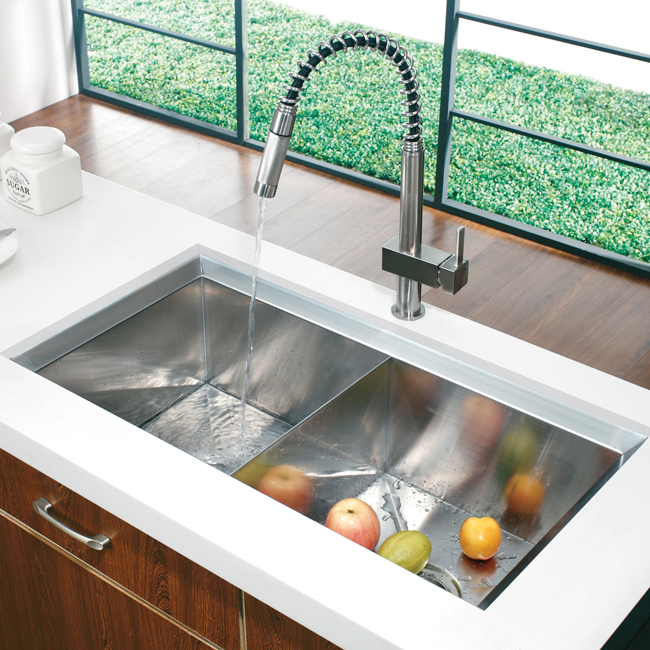 Vigo VG02009ST Kitchen Pull Down Stainless Steel Faucet