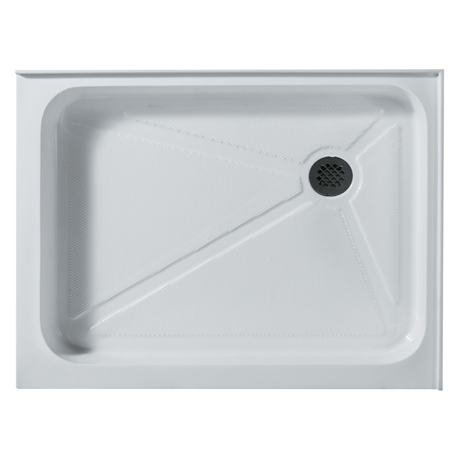Vigo VG06019WHT3248R Acrylic 32x48 Double Threshold Shower Base