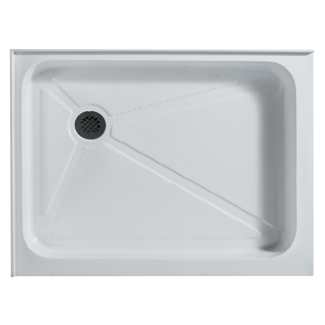 Vigo VG06019WHT3648L Acrylic 36x48 Double Threshold Shower Base