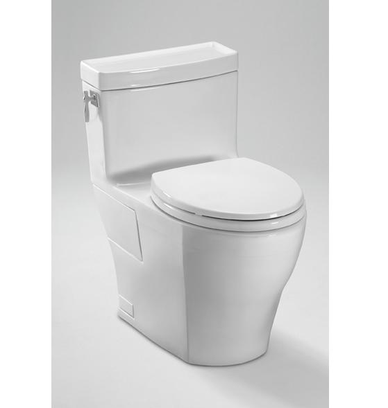 Toto Aimes MS626214CEFG One Piece High Efficiency Toilet with SanaGloss