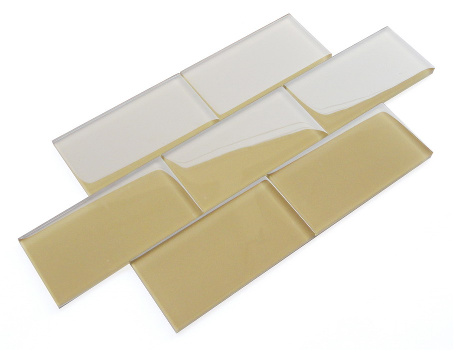 LADA SG03 Cappuccino Crystal Glass Subway Tile 3x6