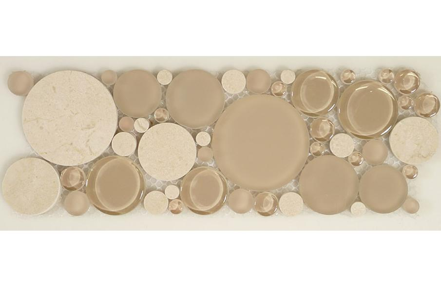 Mirage B200 Bubble Series Glass & Stone Mosaic Tile 4x12