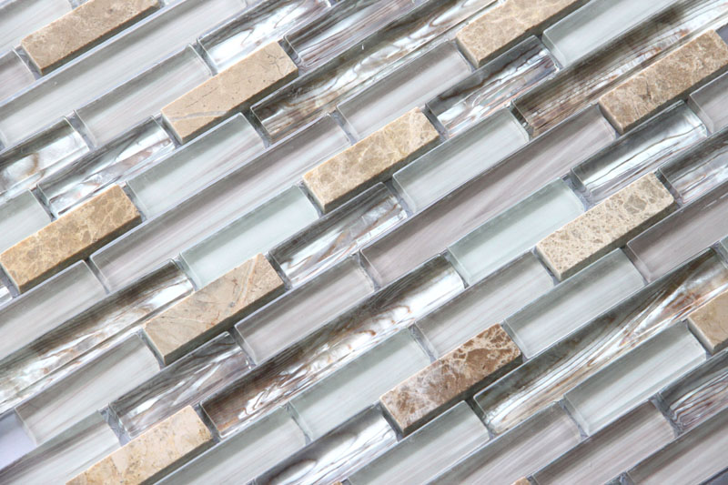 LADA Granda Series GD04 Glass & Stone Mosaic Tile