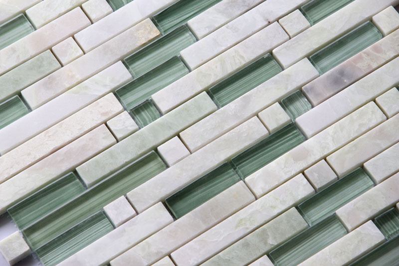 LADA Granda Series GD01 Glass & Green Onyx Mosaic Tile