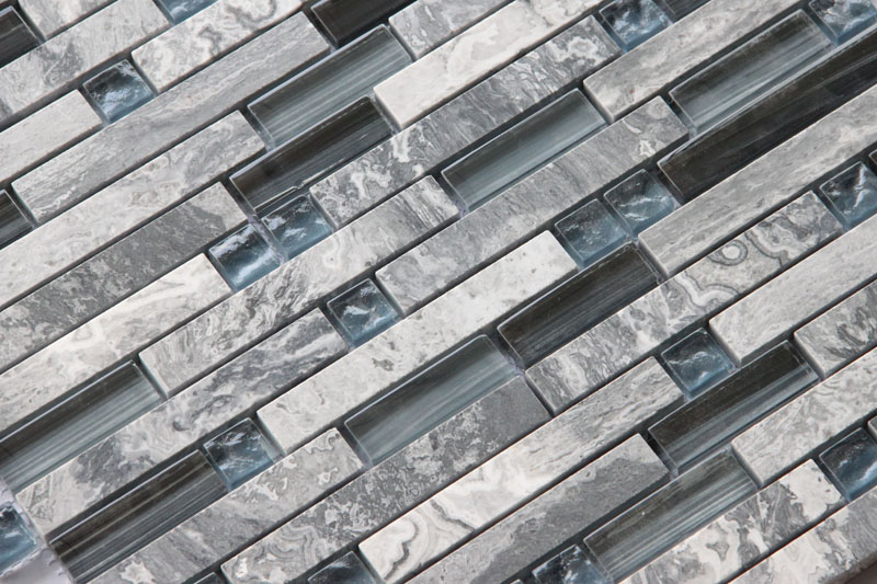 LADA Granda Series GD09 Glass & Stone Mosaic Tile