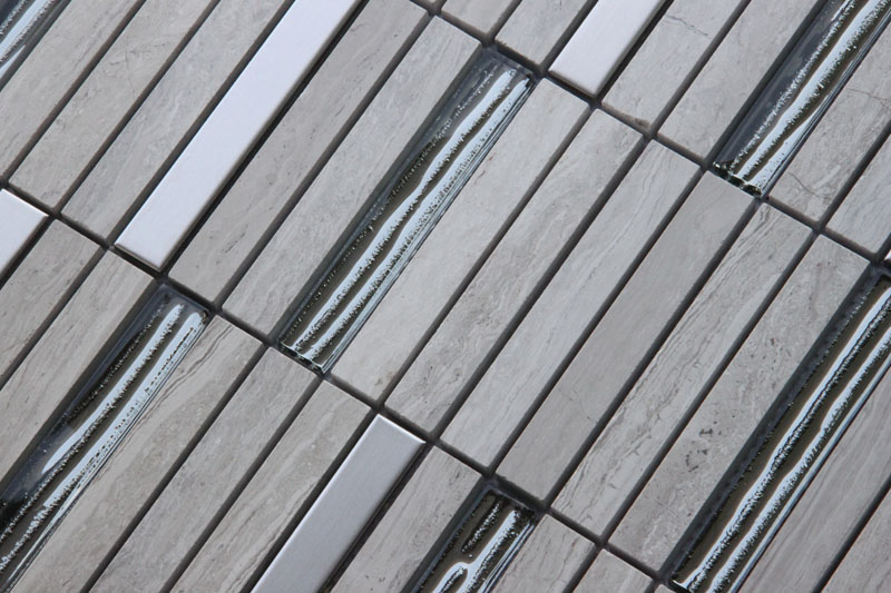 LADA Granda Series GD12 Glass, Stone & Stainless Steel Mosaic Tile