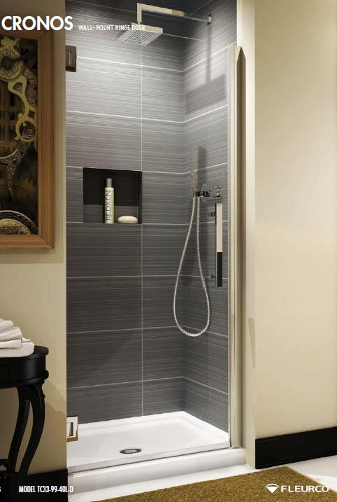 Fleurco Titan Cronos TC33-99-40 Frameless Shower Door