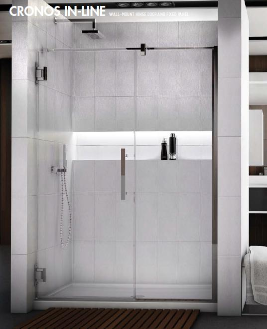 Fleurco Titan Cronos In-line Frameless Shower Doors