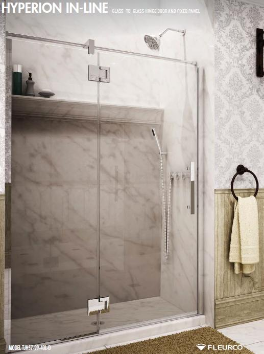 Fleurco Titan Hyperion In-line Frameless Shower Doors