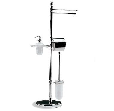 OML Esea 2537D Floor Stand with Toilet Paper Roll Holder and Toilet Brush