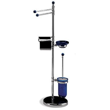 OML GriffeKolor K2037 Floor Stand with Toilet Paper Roll Holder and Toilet Brush