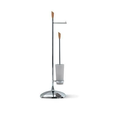 OML Golf L135S Floor Stand with Toilet Paper Roll Holder and Toilet Brush