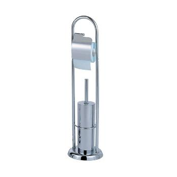 Capannoli 673-T Floor Stand with Toilet Paper Roll Holder and Toilet Brush