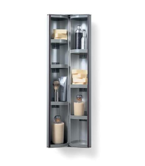 Totem Caddy Matte Aluminium Wall Hung Utility Storage Linen Cabinet