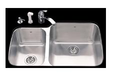 Kindred UCL2233/90RK/E Undercounter SS Sink