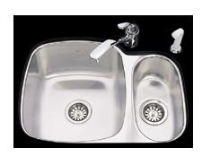 Kindred UC1925/90RK/E Undercounter SS Sink