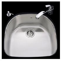 Kindred US2123/90RK/E Undercounter SS Sink