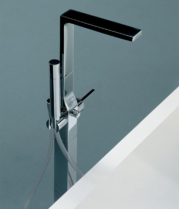 Lacava Ritmonio WATERBLADE W1475 Floor Standing Bath Filler With Personal  Shower ...