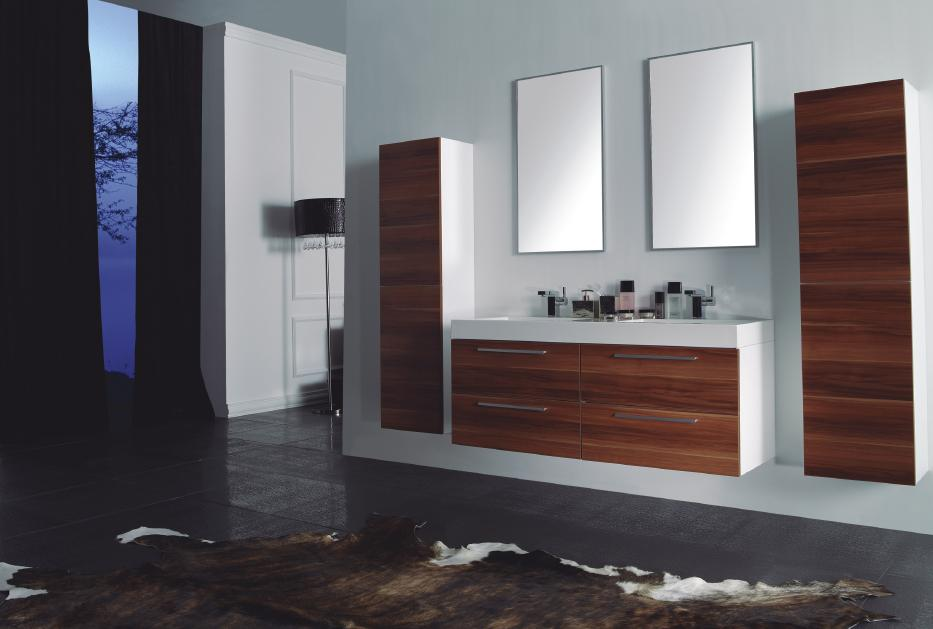 Universal Ceramic Tiles New York Brooklyn  Vanities  Double - 54 vanity double sink