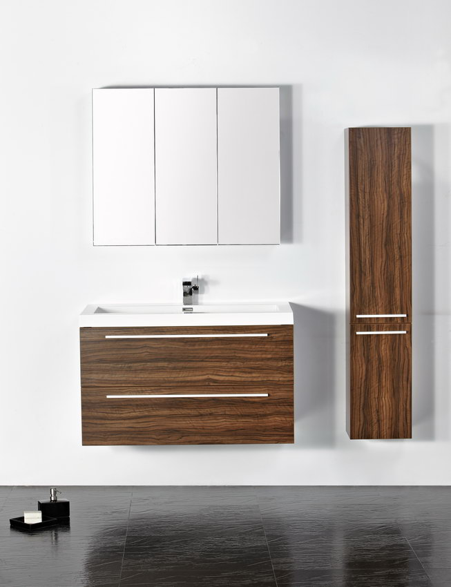 LADA Milan 100 Wall Hung Bathroom Vanity Set 40  Universal Ceramic Tiles  New York  Brooklyn   Vanities   Modern  . New Bathroom Vanity Brooklyn Ny. Home Design Ideas